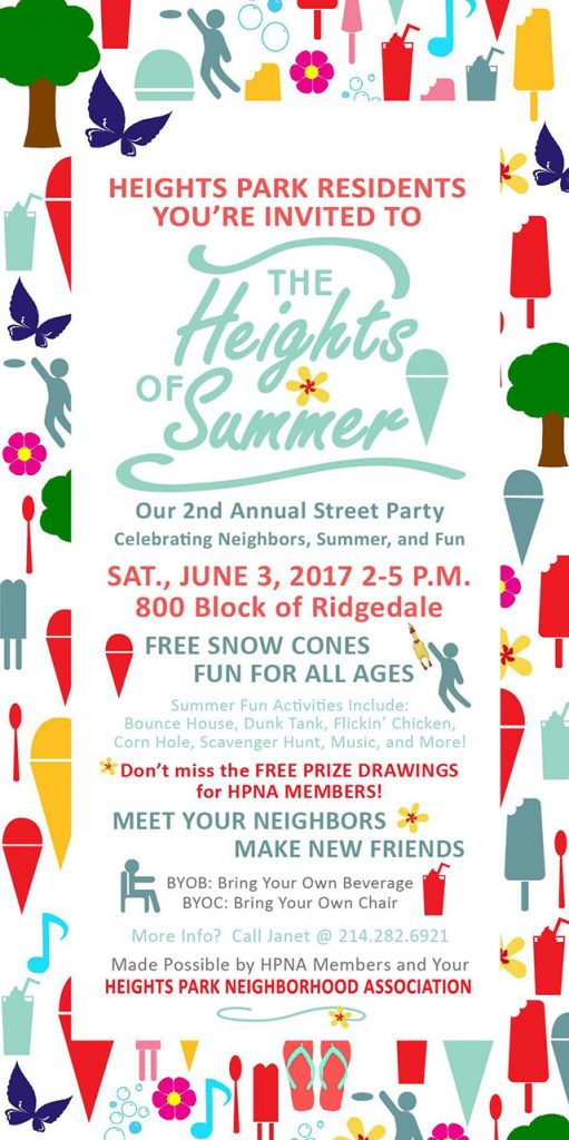 The Heights of Summer 2017