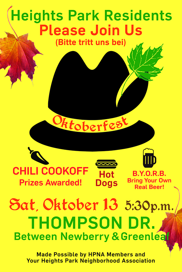 Heights Park Oktoberfest flyer